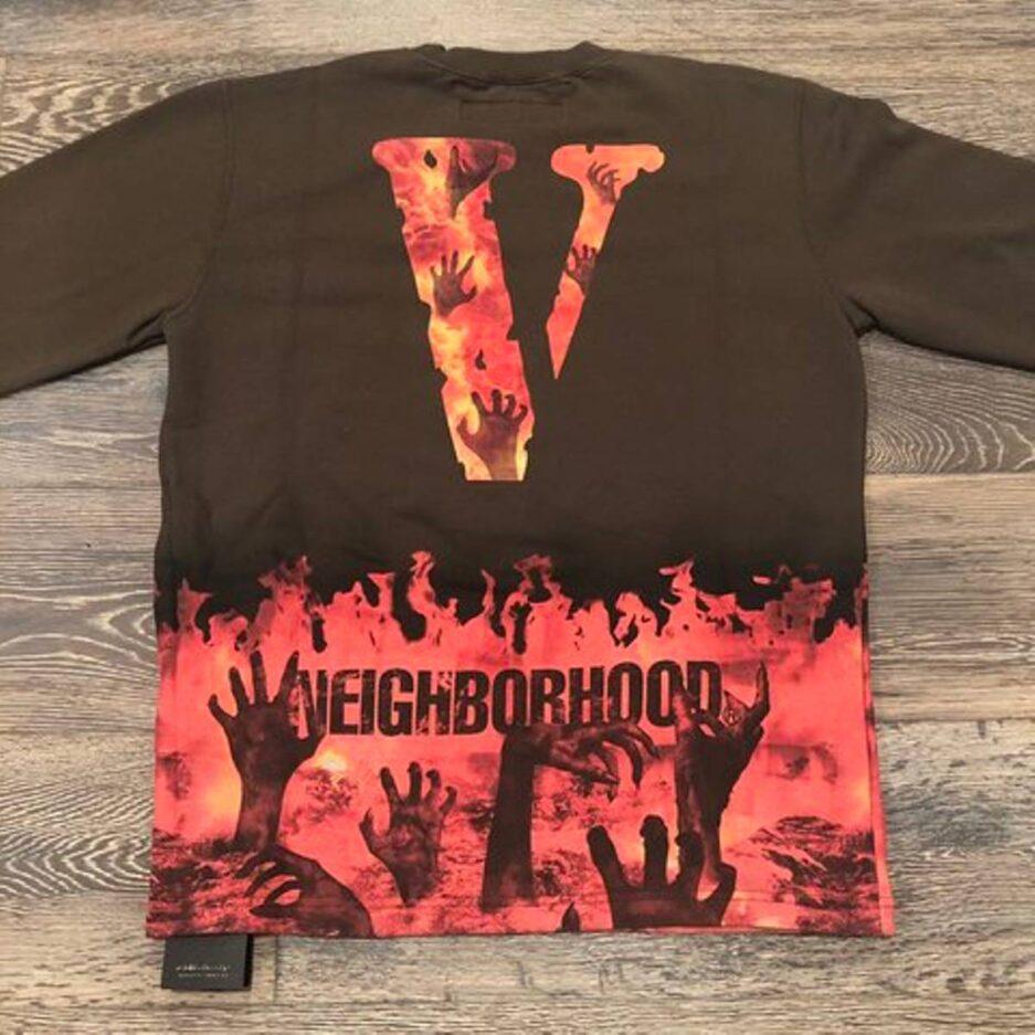 Vlone Neighborhood Brown Crewneck T-Shirt