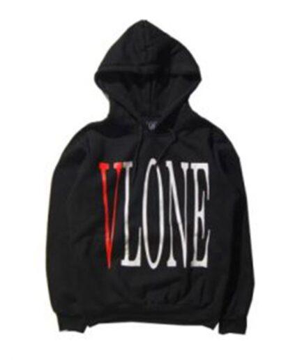 Vlone Staple Streetwear Hoodie Black