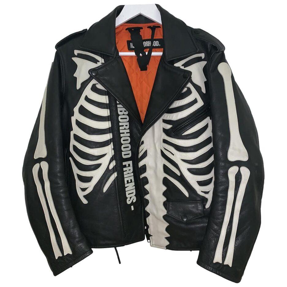Vlone X Neighborhood Leather Jacket