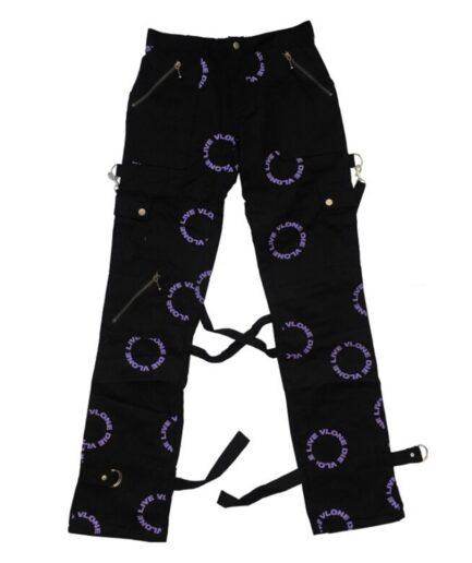 Live Vlone Die Vlone Purple Bondage Pant