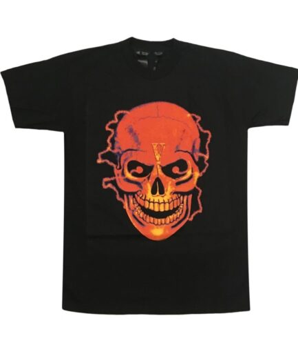 Vlone-Flame-Skull-Tee-Shirt