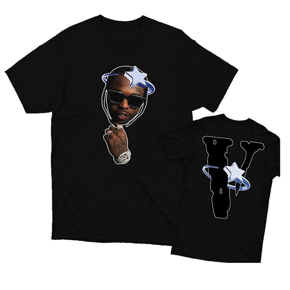 Vlone Halo X Pop Smoke T-Shirt Black