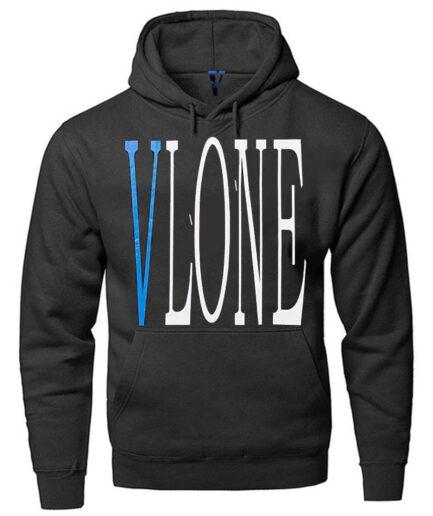 Vlone Snake Print Hommes Pullover Hoodie Black