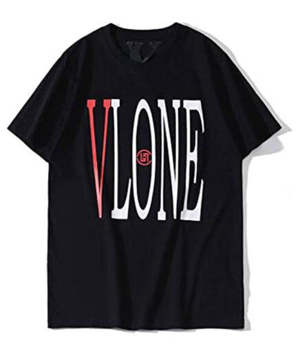 Brand-new-mens-fashion-Black Vlone T-Shirt