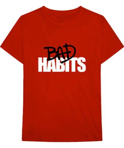 VLONE BAD HABIT T-Shirt Red and Black