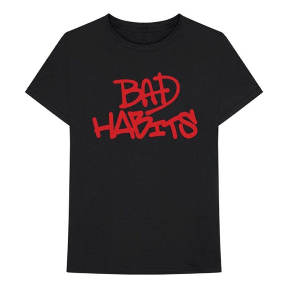 Vlone BAD HABITS T-SHIRT BLACK
