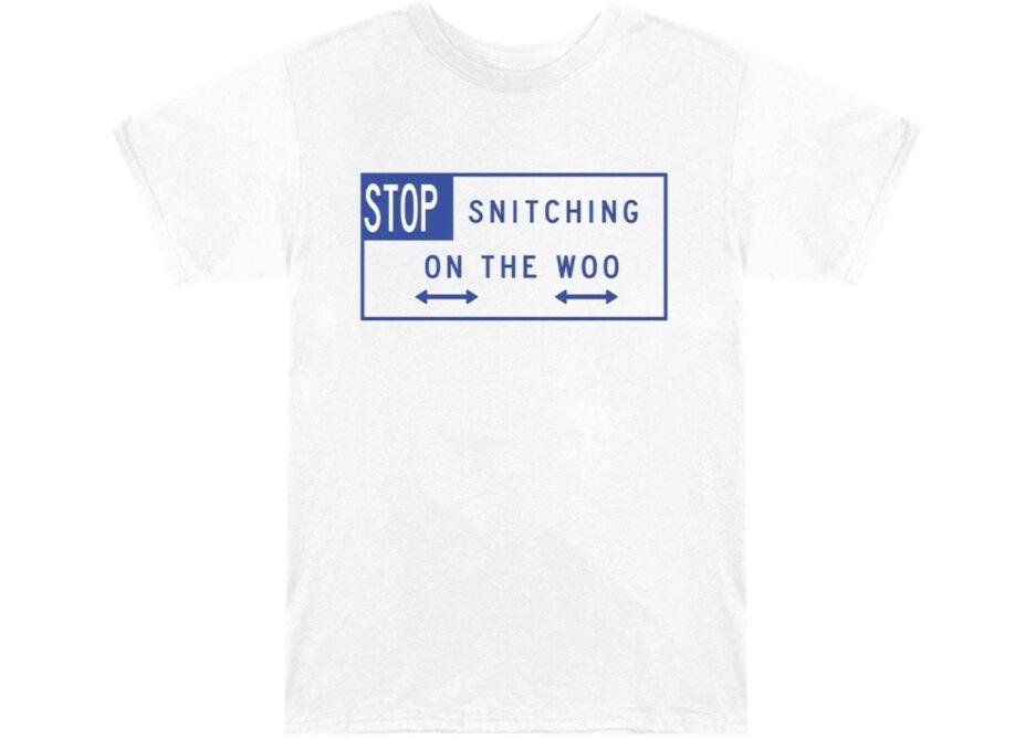 Pop Smoke x VLONE Stop Snitching White T-Shirt