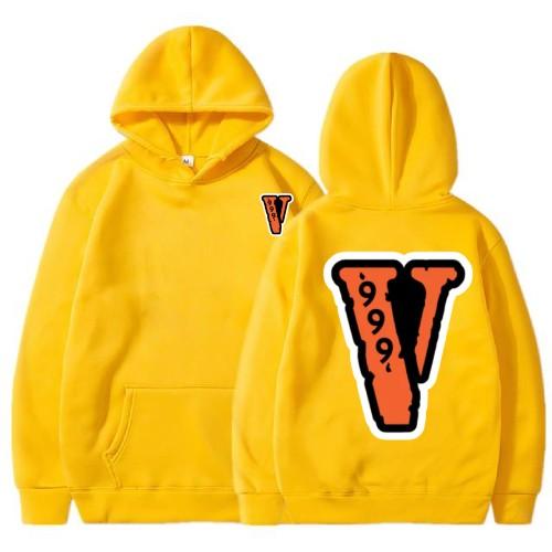 Juice Wrld x Vlone 999 Yellow Hoodie