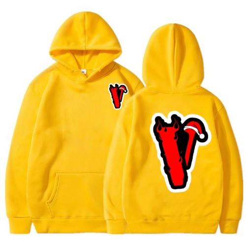 Vlone Angles Christmas Yellow Hoodies