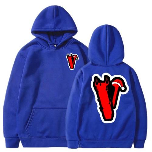 Vlone Angles Christmas blue Hoodies