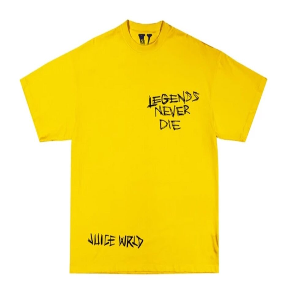 Juice Wrld x Vlone Legends Never Die Tee Yellow
