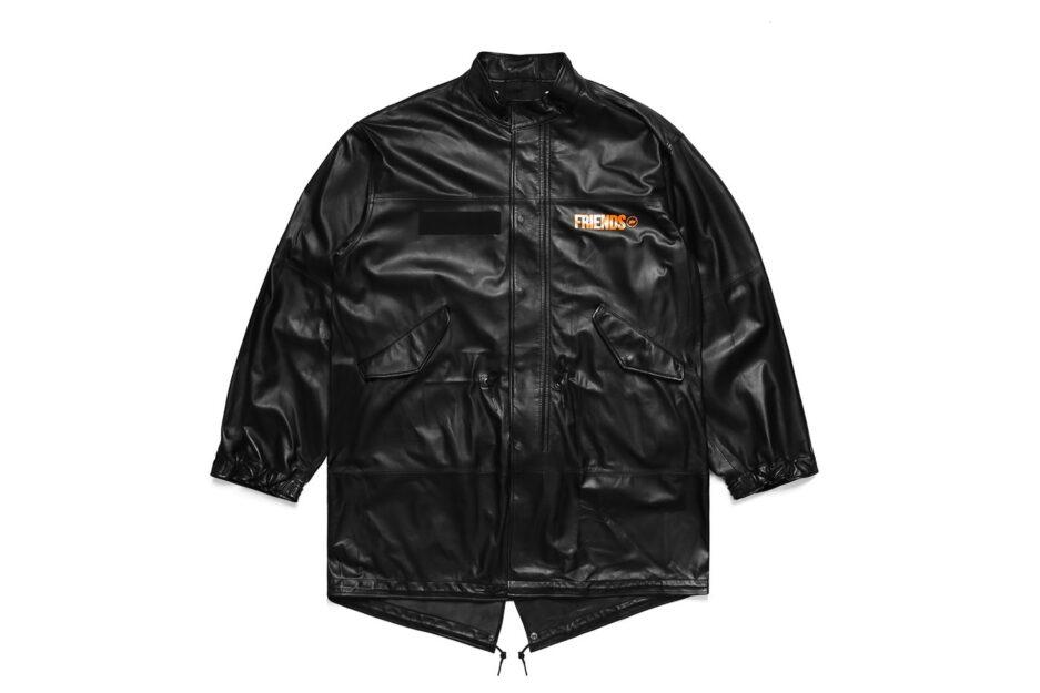 Vlone Fragment Leather Jacket
