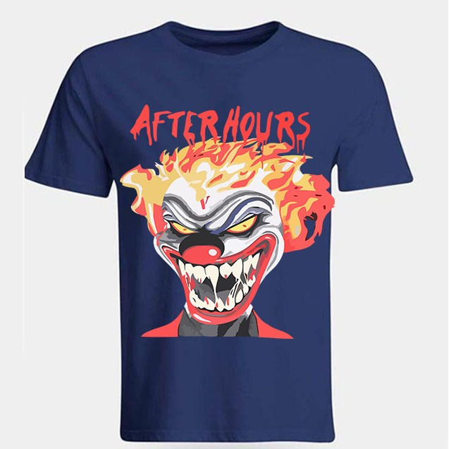 Vlone-Weeknd-After-Hours-If-I-OD-Clown-Tee-Blue