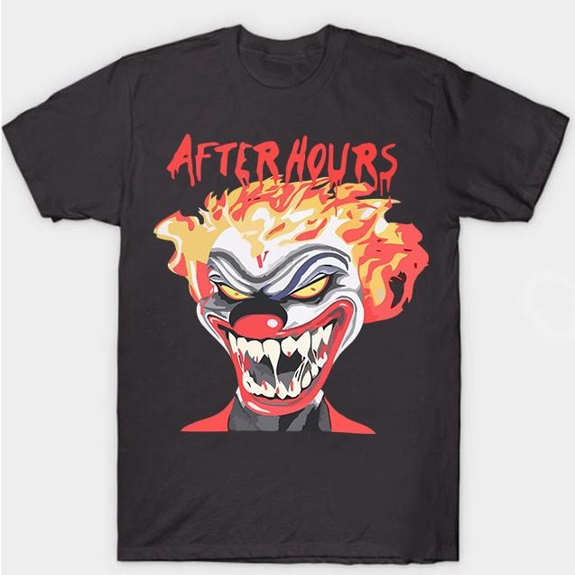 Vlone-Weeknd-After-Hours-If-I-OD-Clown-Tee-Dark-Black