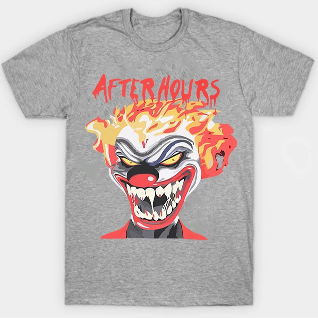 Vlone-Weeknd-After-Hours-If-I-OD-Clown-Tee-Gray