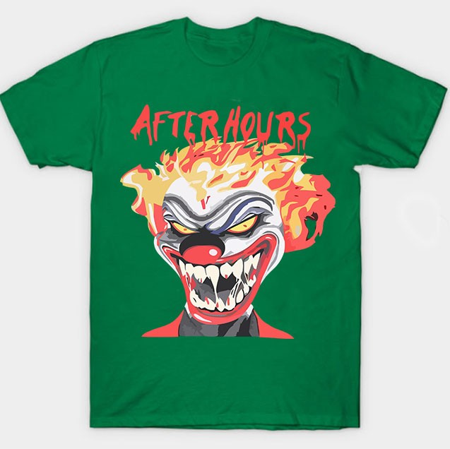 Vlone-Weeknd-After-Hours-If-I-OD-Clown-Tee-Green