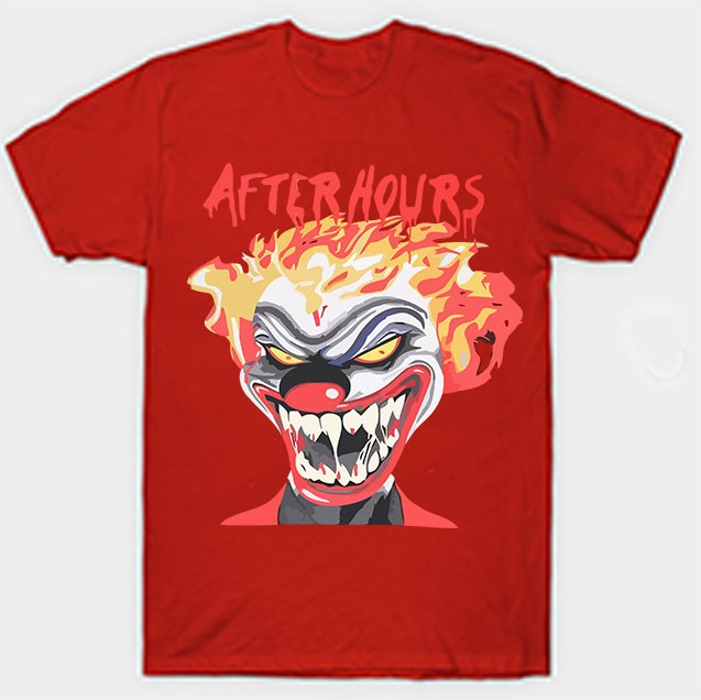 Vlone Weeknd After Hours If I OD Clown Red Tee