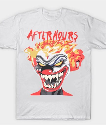 Vlone-Weeknd-After-Hours-If-I-OD-Clown-Tee-White