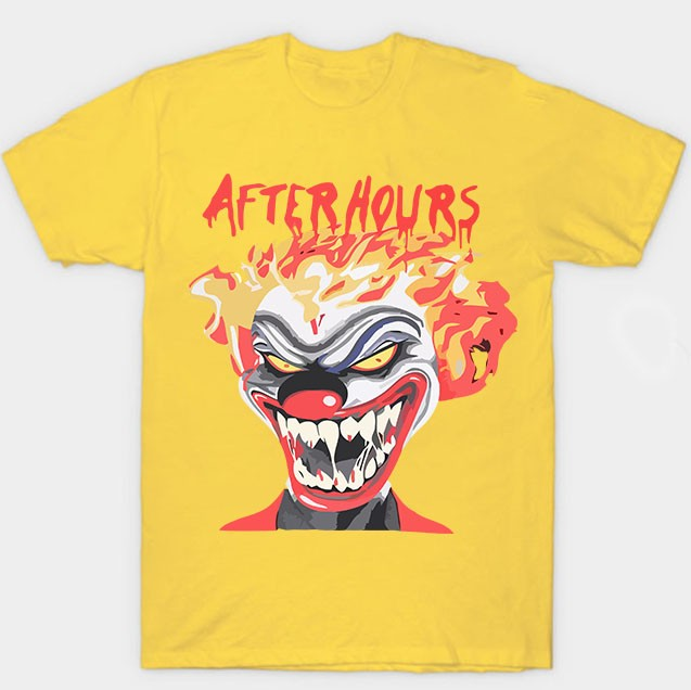 Vlone Weeknd After Hours If I OD Clown Yellow Tee