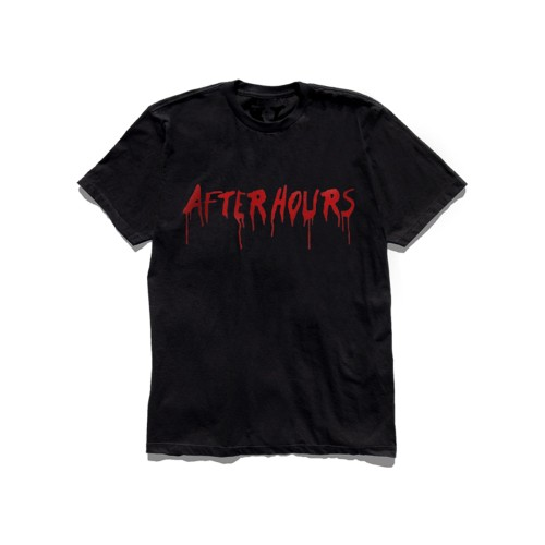 Vlone-x-The-Weeknd-After-Hours-Acid-Drip-T-Shirt- Black