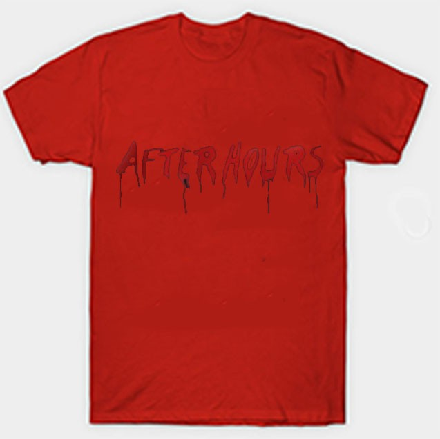 Vlone-x-The-Weeknd-After-Hours-Acid-Drip-T-Shirt-Red.