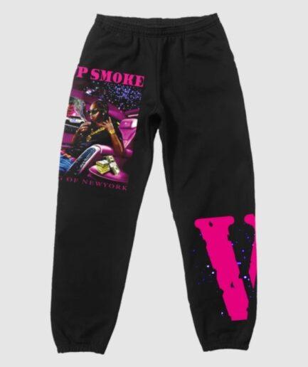 Pop Smoke x Vlone King Of NY Oversized Sweatpants - Black