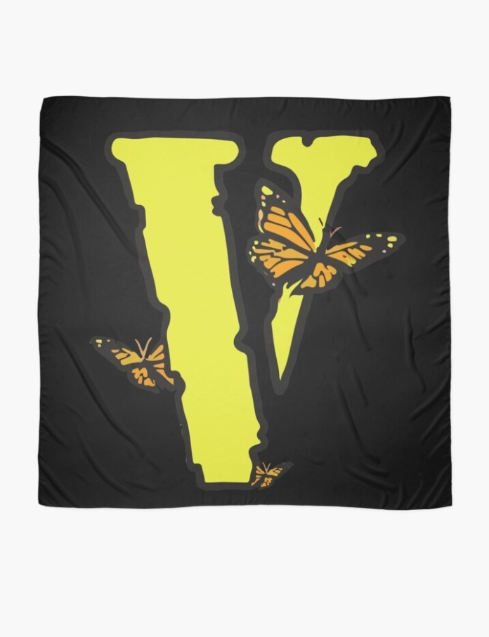 Vlone Yellow Butterflies Edition Scarf