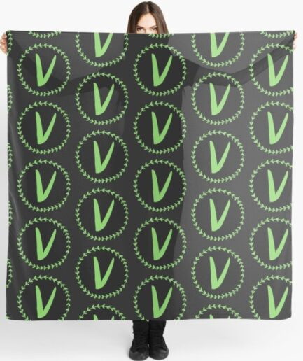Vlone Drilling Logo Black Scarf