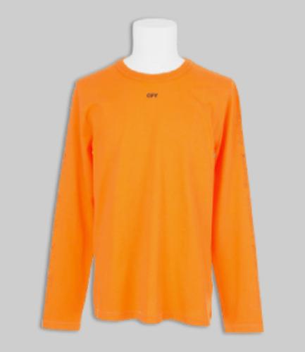 OFF-WHITE X VLONE Long Sleeve Orange Shirt