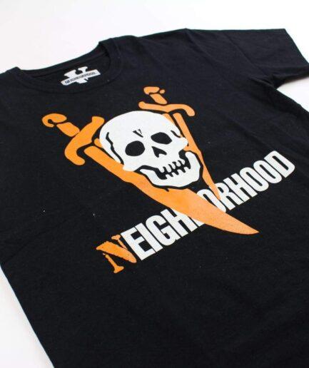 Vlone x Neighborhood Skull Logo Tee
