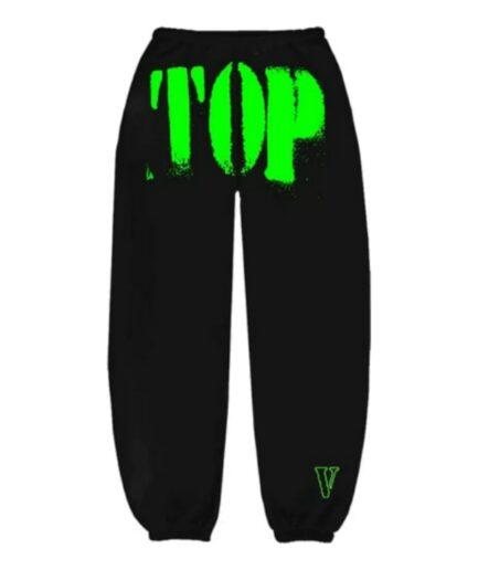 YoungBoy NBA x Vlone Green TOP Black Sweatpants