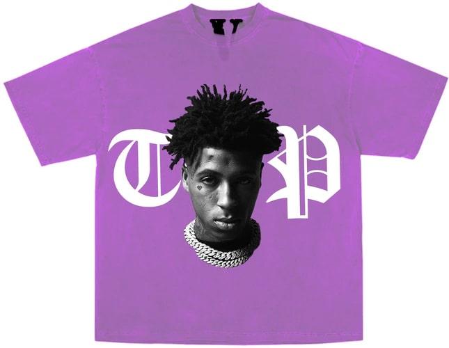 YoungBoy NBA x Vlone Peace Hardly Purple Tee
