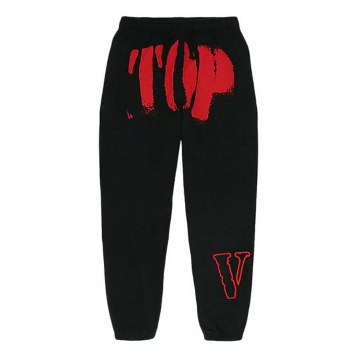 YoungBoy NBA x Vlone Red TOP Black Sweatpants