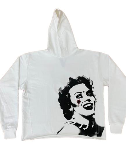 VLONE Marilyn Monroe Vampire Hoodie White frent