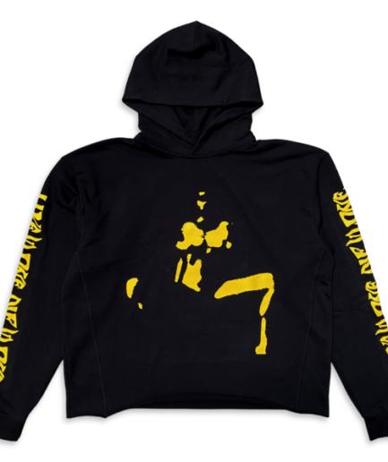 VLONE Nude Girl Hoodie Black Yellow frent
