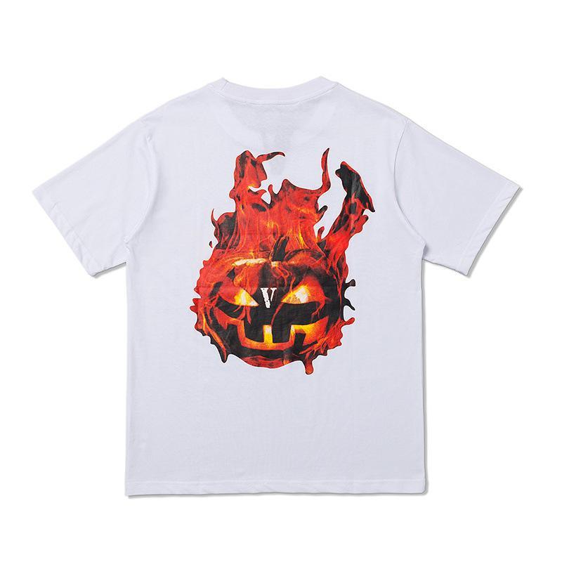 Vlone-Halloween-Flaming-Pumpkin-Tee-White-Back