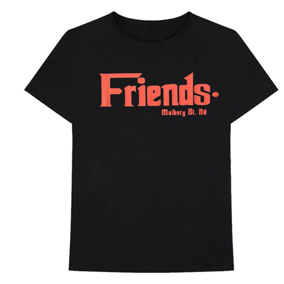Vlone Friends Godfather Mulberry St Red Black Tee