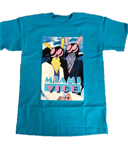 Vlone Miami Vice Blue Tee (Front)
