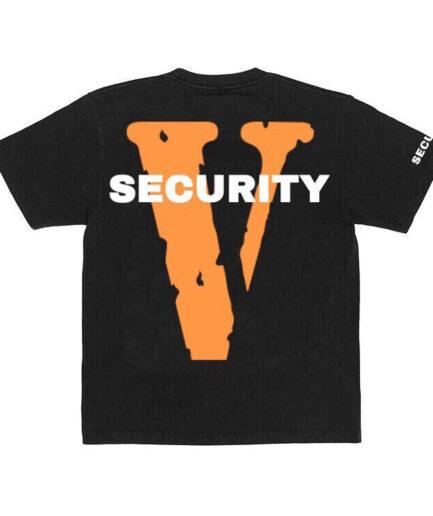 Vlone Security Tee - Black (Back)