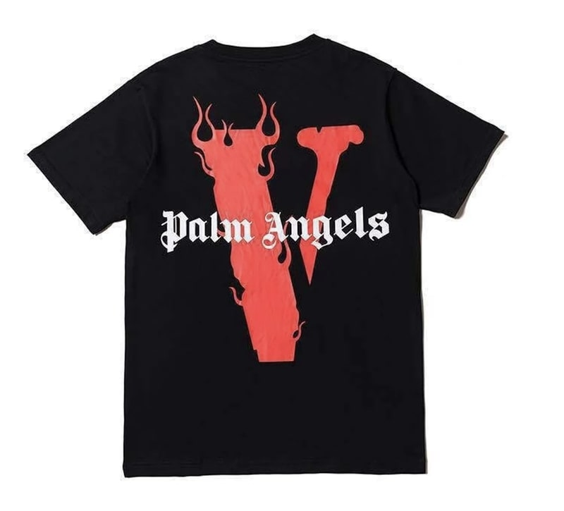 Vlone-X-Palm-Angels-Tee-V-Staple-Black-Red