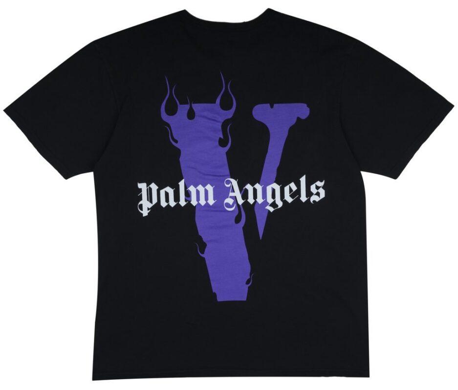 Vlone-X-Palm-Angels-V-Staple-Tee-Puple-Black