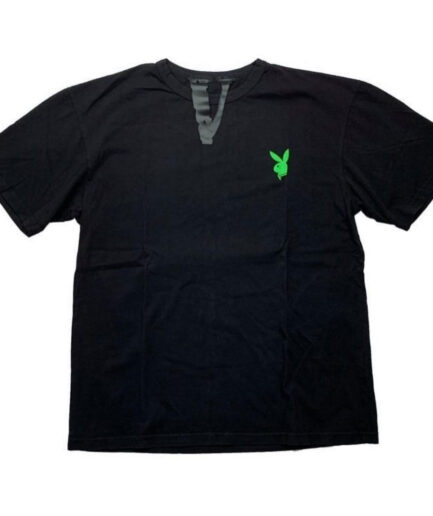 Vlone x Playboy Carti Bunny Tee - Black (Front)