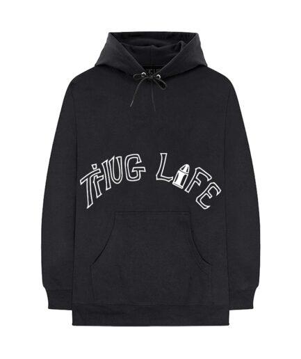 Vlone-xTupac-Thug-Life-Tattoo-Black-Hoodie-Front