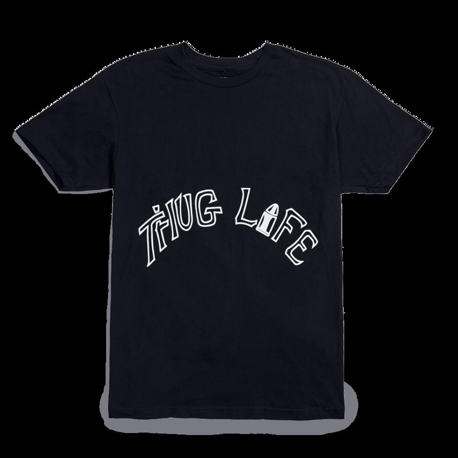 Vlone-xTupac-Thug-Life-Tattoo-Black-T-Shirt-Front