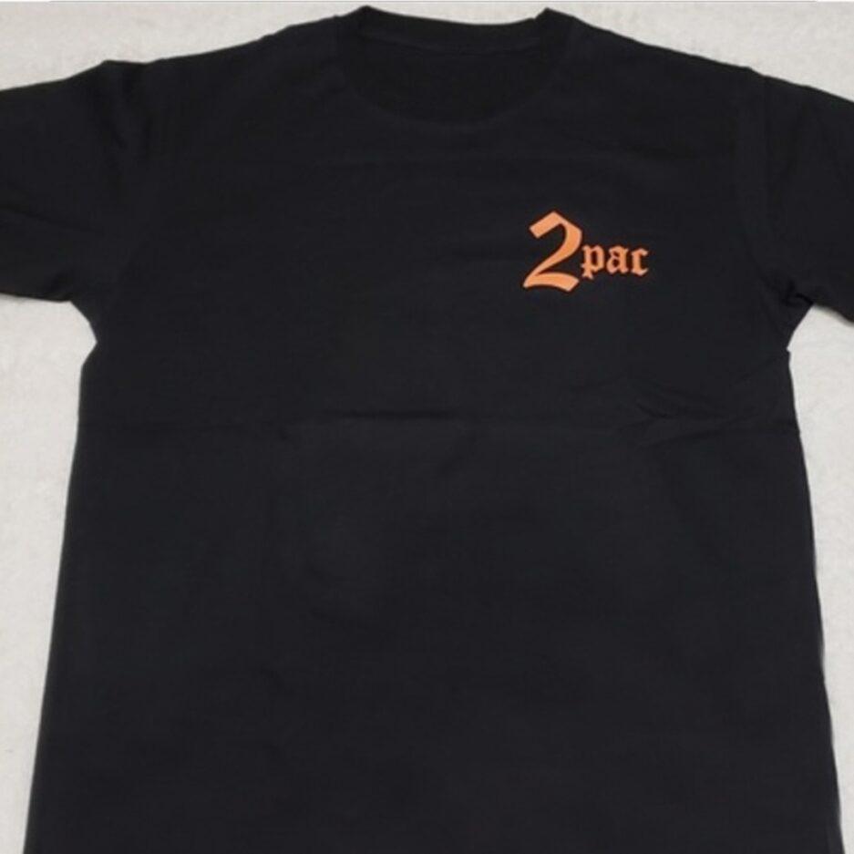 Vlone X Tupac Cross T-Shirt Black