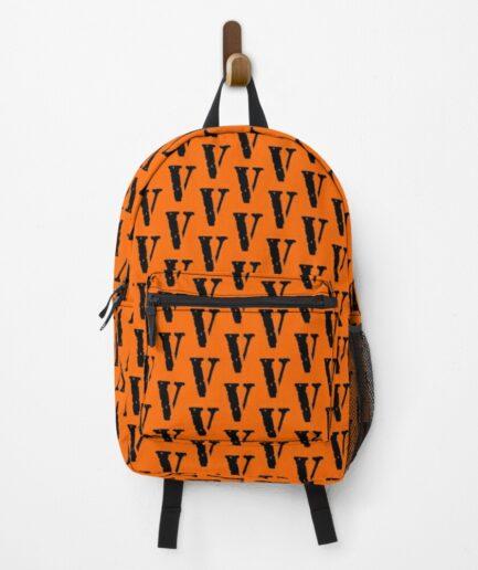 Vlone logo Black On Yellow Backpack