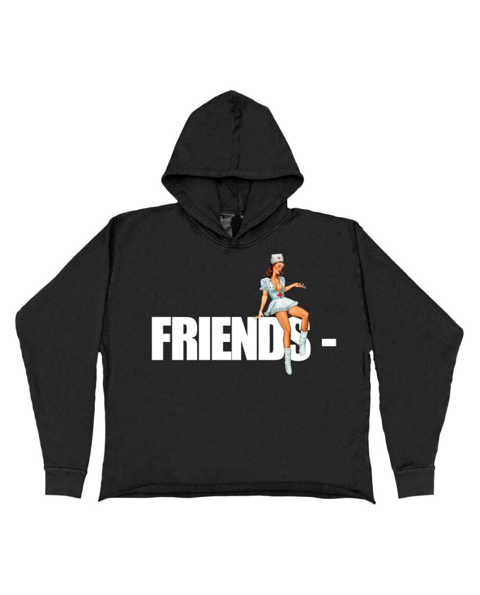 FRIENDS - Pin Up Hoodie - Black (Front)