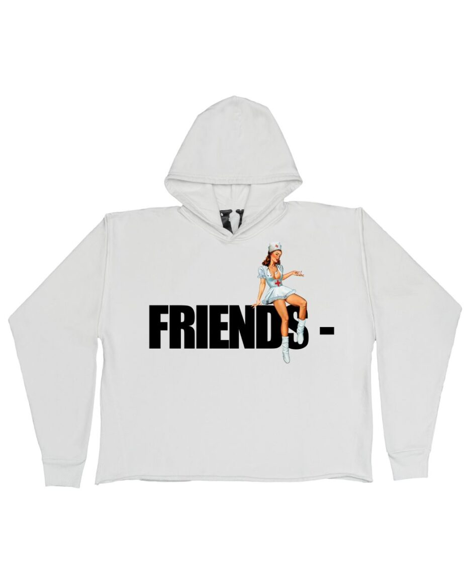 FRIENDS - Pin Up Hoodie - White (Front)