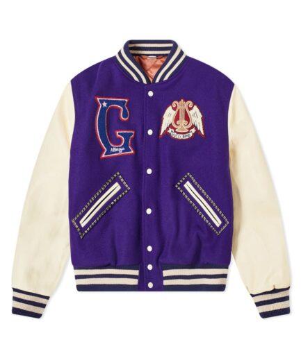 Gucci Band Varsity Jacket - Purple (Front)