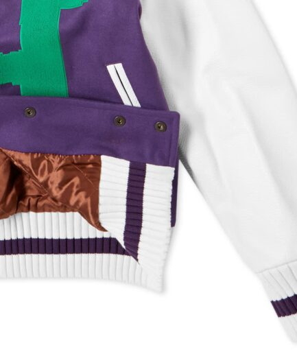 Palm Angels New Folk Varsity Jacket (Detail 1)